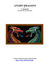 ANGRY DRAGONS - cross stitch chart