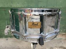 Pearl Free Floating Super Sensitive 14 x 6.5 Chrome Steel Snare Drum VERY CLEAN