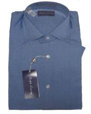 $450 Ralph Lauren Purple Label Italy Mens Button Down Blue Dress Shirt 14.5 15
