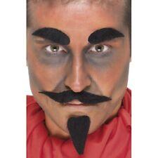 DEMONIO PELI SUL VISO set da uomo Halloween DIAVOLI Accessorio Vestito