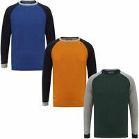 New Mens Tokyo Laundry Moffatt Crew Neck Raglan Sleeve Cotton Jumper Size S-XXL