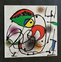 """Joan Miro Original Stone Lithograph """"Ceramiques I"""" 1973 Rare"""
