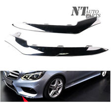 Qty2 L&R Front Bumper Chrome Trim Molding for Mercedes W212 E350 2014-2016