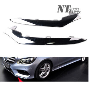 Primed w//AMG /& Night Package MB1046134 Molding 2078850500 Front For Mercedes Benz E400 Bumper Trim 2015 2016 2017 Driver Side Convertible//Coupe Outer
