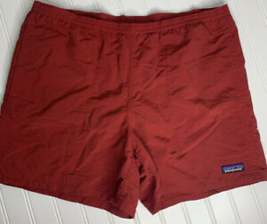 Patagonia Baggies Swim Trunks Shorts Mesh Lined red Men's Size: Small