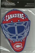 MONTREAL CANADIENS GOALIE MASK WOODEN WALL PLAQUE