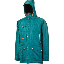 L1 Chieftan Insulated Snowboard Ski Parka - Mens Medium - Teal - 10K Jacket NWT