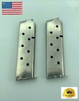 1911 Magazine 2 Pack 8 Round Stainless 45 ACP GI Colt Pistol Mag Clip 45 AUTO