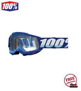 100% ACCURI GEN 2 ENDURO MEN'S GOGGLE BLUE CLEAR