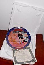 Mickey's Gala Premiere 4th Issue Bradford Exchange Plate Minnie Through the Year