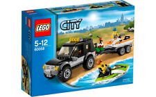 Lego City Town 60058 SUV with WATERCRAFT Jet Ski Trailer Minifigs NISB Xmas Gift