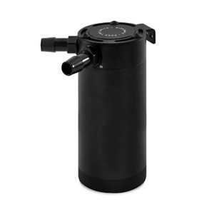 Mishimoto X-Large Compact Baffled Oil Catch Can - 2 Port - Black