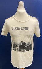 "Selected Homme Rock n Roll New York T Shirt, Marshmallow, Small 38"", BNWT"
