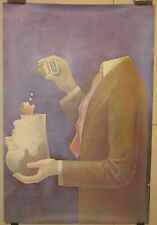 Rare Original PHILIP KIRKLAND Surrealist 'Excedrin Aspirin' Advertising POSTER