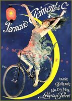 Cycles Fernand Clement 1895 French Bicycle Vintage Poster Print Cycling Advert