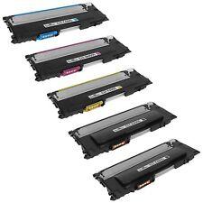 5 Pack Set Black & Color CLTK409S Toner Cartridge for Samsung CLP 315W
