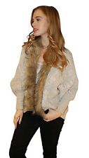 New Womens Thick Knitwear Cardigan Shrug With Faux Fur Collar