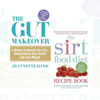 Sirtfood Diet Recipe Book and The Gut Makeover 2 Books Collection Set New Pack