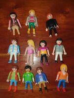 Lot de 11 personnages figurines Playmobil modernes