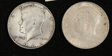 2 Kennedy Half Dollars 1964  Circulated Condition  Denver   #13