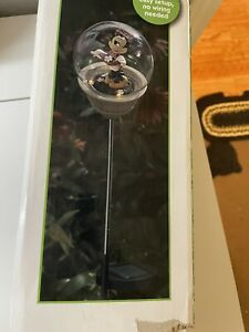 solar led disney minnie mouse garden stake