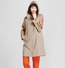 Hunter for Target Women's Hooded Trench Coat Khaki L NWT 100% Cotton Casual