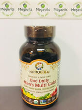 NutriGold Men's One Daily Multi Gold 60 Veg. Caps. Plant Based Multivitamin