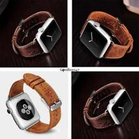 Vintage Genuine Leather Bracelet For Iwatch Apple Watch Band Strap 38mm 42mm