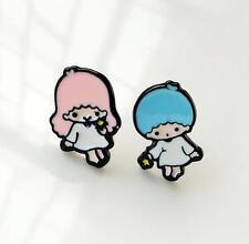 Little Twin Stars couple  metal earring ear stud earrings studs