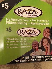 Raza International And Long Distance Calling Card $5 Value Highest Minutes U Ge