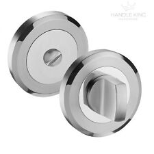 Stainless Steel Bathroom Door Lock Thumb Turn & Release Satin & Polished Finish