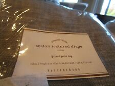 2 Pottery Barn Seaton textured  curtains drapes 50 84 gray grey New