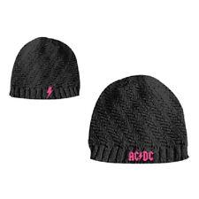 AC/DC WENDE BEANIE/MÜTZE GIRLS ROCK OR BUST BAND LOGO NEU COOL