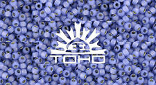 8/0 Silver-Lined Milky Sapphire Round Glass TOHO Seed Beads 15 grams #2123