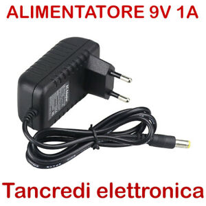 Alimentatore trasformatore universale 220V 9V 9 V volt 1A 1 A per Arduino