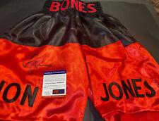 "Jon ""Bones"" Jones Signed UFC MMA RED & BLACK Trunks PSA DNA IN THE PRESENCE NR"