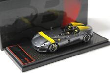 1:43 BBR Ferrari Monza SP2 grigio met. silver/ yellow stripe - Limited 40 pcs.