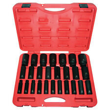 "K Tool 38202 Impact Socket Set, 1/2"" Drive, 26 Piece, 10mm to 36mm, Deep"