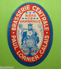 étiquette bière - brasserie central lornier calais 62