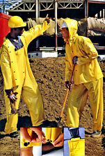 Wet Wear 65-200 Large Yellow Rainsuit, jacket, detachable hood & suspender pants