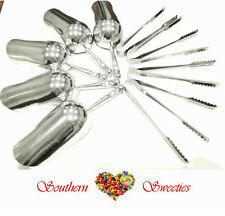 5 LOLLY SCOOPS & 5 CANDY TONGS CANDY BUFFET LOLLIES SERVING PARTYWARE SET