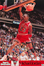 POSTER: NBA BASKETBALL : MICHAEL JORDAN - RED UNIF - CHICAGO BULLS  #7416  RC1 G