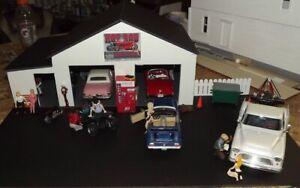 1:24 & 1:25 Scale Diorama 2 Bay Garage / Work Shop  Pre-Assembled