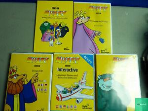 Early Advantage Muzzy BBC Multilingual Language Course DVD Set / Lot DVDs & CD