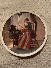 norman rockwell plates. Mothers Day 1980. Plate Number 06464C. Plate In Perfect