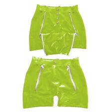 New Latex Rubber Gummi Sexy Shorts Boxer Shorts With Hole Zipper Size XXS-XXL
