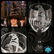 Personalised HARRY POTTER Sorting Hat Wine Glass FREE Name Engraving!