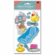 Baby Bath Time Infant Ducky Bubbles Baby Shampoo Oil Comb Jolee's 3D Sticker