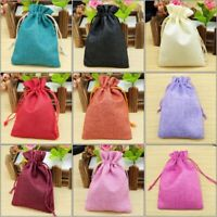 100 Small Burlap Jute Sack Hessian Wedding Favour Jewellery Pack Xmas Gift Bags