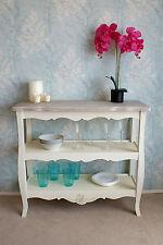 Devon Cream Painted French Style 2 Shelf Storage Unit Chic Hallway Shelving